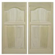 "Solid Western Poplar Saloon Doors (54""- 60"" Door Openings)- Cathedral Arch"