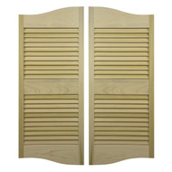 "Double Arch Louvered Saloon | Cafe Doors  42""- 48"" Door Opening"