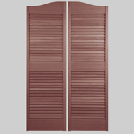 "Custom Sapele Louver Doors (Picture Shown is 58"" tall)"