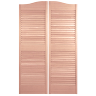 "Custom Sapele Louvered Cafe | Saloon Doors 36""- 42"" Door Opening"
