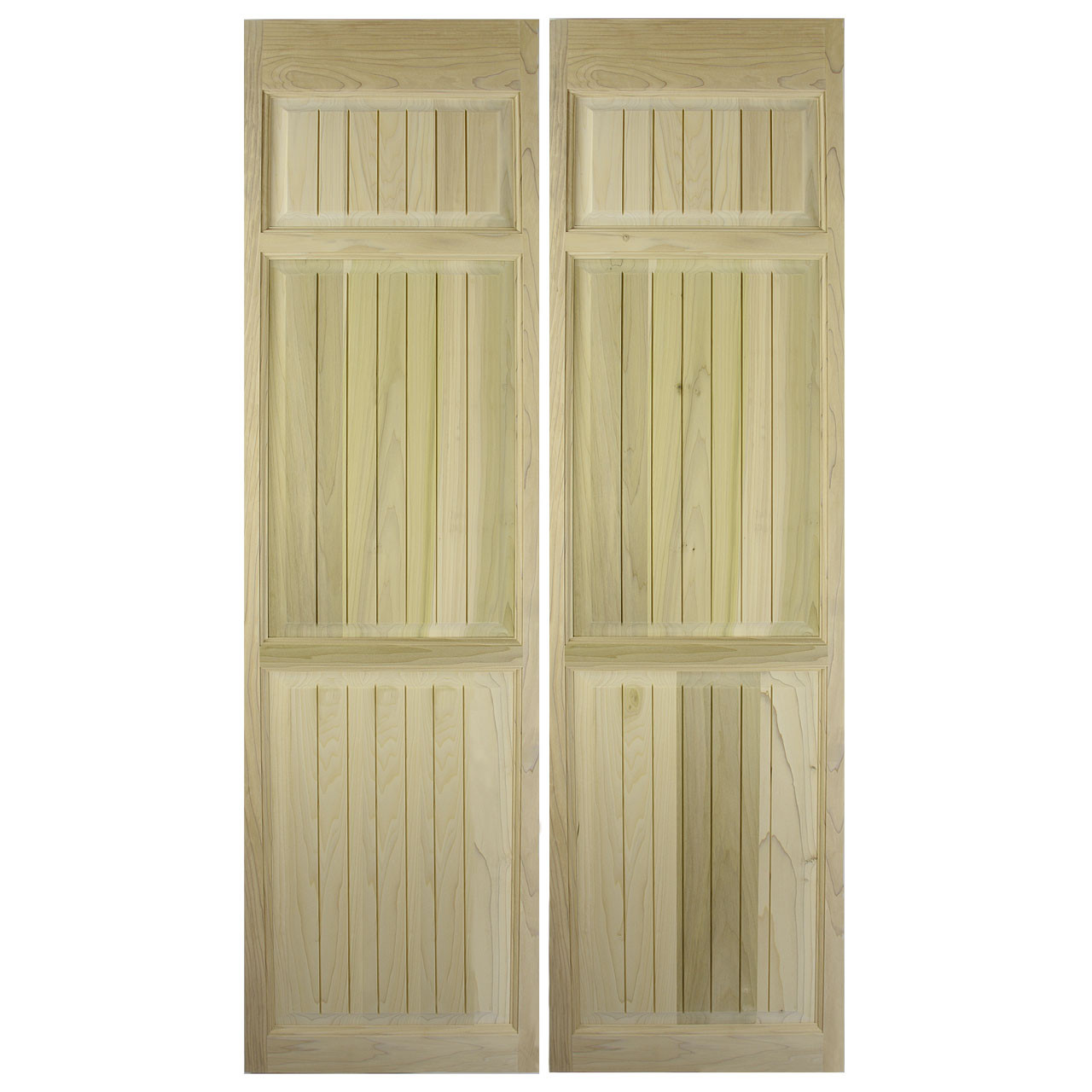Custom Full Length Solid Poplar Beadboard Swinging Cafe Doors