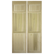 "Full Length Cafe / Saloon Doors Poplar Beadboard (36 inches - 42 inches Door Openings) Doors shown as 80"" tall."