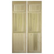 """Full Length Cafe Doors / Saloon Interior Doors Beadboard Style (42""""-48"""" Door Openings) Door Shown as 80"""" tall."""