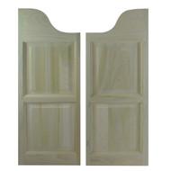 Solid Poplar Western Arch Cafe Doors | Saloon Doors