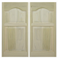 "Solid Poplar Cathedral Arch Swinging Cafe Doors | Saloon Doors for 48""-54"" Door Openings"