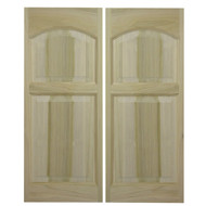 "Rounded Arch Solid Poplar Swinging Cafe Doors | Saloon Doors for 48""-54"" Door Openings"