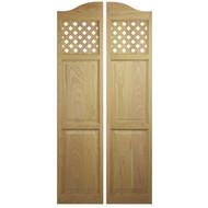 "Lattice Full Length Cafe Doors (24"" - 36"" Door Openings)"