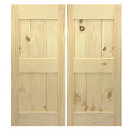 Framed Mid-rail Door Swing Barn Door Cafe | Saloon Doors- Solid Pine