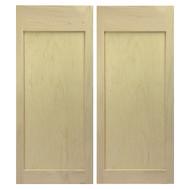 Maple Shaker Style Flat Panel Cafe Doors / Saloon Doors 42 inch- 48 inch door openings