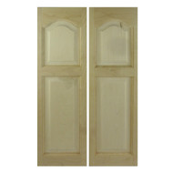 "Solid Soft Maple Saloon Doors (24""- 36"" Door Openings)- Cathedral Arch"