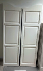 "Professional Finished White Doors- Snowbound Sherwin Williams Color **Doors picture 60"" tall"