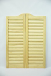 "Pine Cafe Doors / Saloon Doors -Louvered Fits Any 30"" Door Opening / 2' 6"" door opening x 42"" Tall Doors Hardware Included"