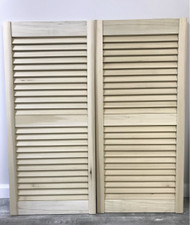 "Poplar Louvered Cafe Doors | Saloon Doors for 36"" Door Size Opening"
