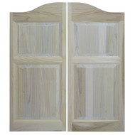 "Rustic Raised Panel Saloon Doors (24""- 60"" Door Openings)"