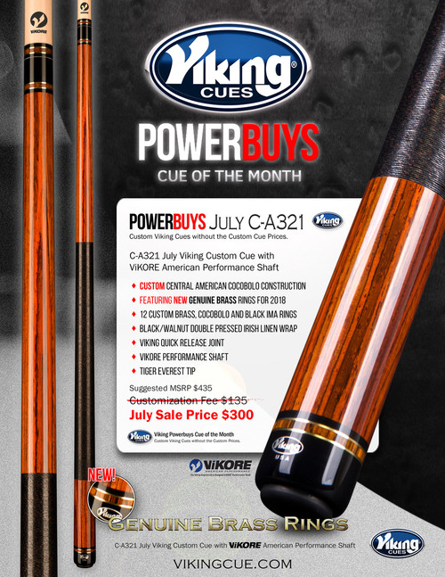 Viking PowerBuys Cue of the Month C-A321 for July 2017