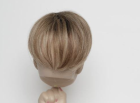 """Mini 4"""" Savauge Top piece covers top thinning area for short hair."""