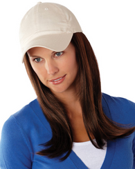 Long Hat with hair Beige Cap