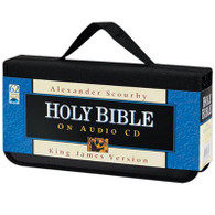 Front view - King James Bible on CD by Alexander Scourby Voice Only on 60 CDs