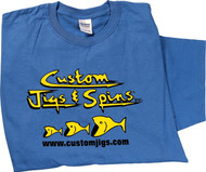 Custom Jigs & Spins Cotton Tee Shirt