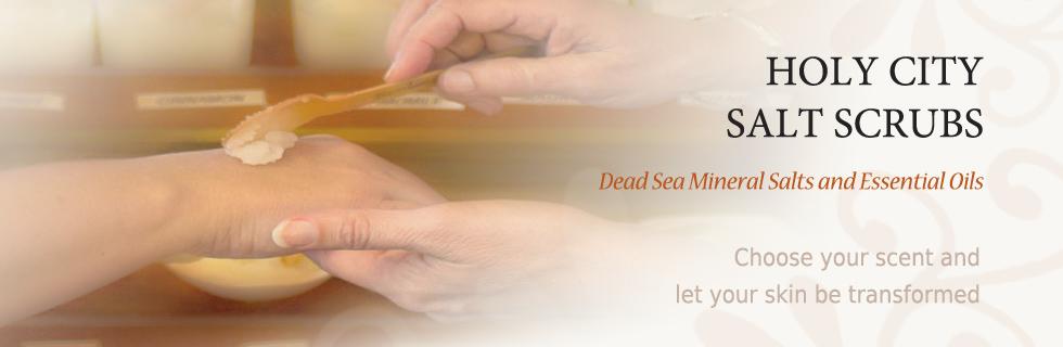 dead sea salt scrub - mineral salts and essential oils