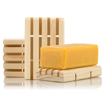 NO CHEMICALS - We do not use any chemical varnish, lacquer or wood stain on our soap dish, just 100% natural pine and polished by hand with certified organic vegetable oil.