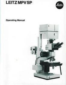Leitz MPV SP Microscope Operating Manual on CD for Ergolux Metalloplan Orthoplan
