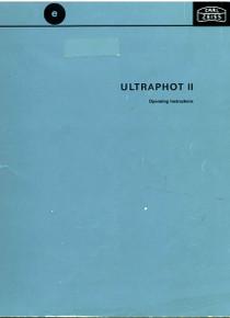Zeiss Ultraphot II Microscope Manual on CD