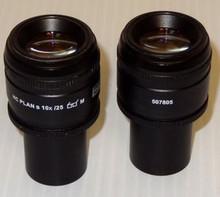 Leica HC Plan 10X Microscope Eyepieces 25mm FOV (Pair)