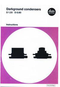 Leitz Darkground / Darkfield Microscope Condenser Instruction Manual