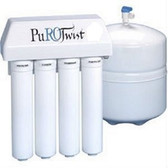 PT4000T50-SS AG PuROTwist 4 Stage 50 GPD Reverse Osmosis System (Air Gap Faucet)