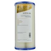 "255491-43 Pentek 20 Micron Pleated Cellulose Polyester Filter Cartridges (4.5"" x 9.75"") ECP20-BB"
