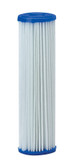 "Pentek 155038-43 R Series 50 Micron Reusable Pleated Polyester R50 Filter Cartridge (2.63"" x 9.75"")"