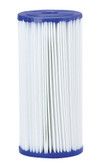 "Pentek 155053-43 R Series 50 Micron Reusable Pleated Polyester R50-BB Filter Cartridge (4.5"" x 9.75"")"