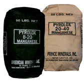 Pyrolox Iron, Manganese, and Hydrogen Sulfide Removal Filter Media 8 x 20 Mesh (0.5 Cu Ft  60 LB)