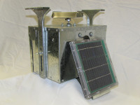 12 Volt Galvanized Box Feeder Control Unit with Attached Solar - 133LDTS-A