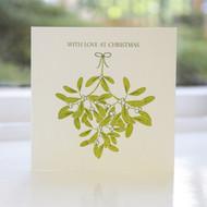 Mistletoe Letterpress Christmas Card