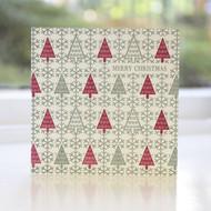 Fairisle Trees Letterpress Christmas Card