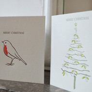 Pack of 8 Letterpress Christmas Cards
