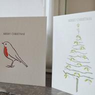 Pack of 8 Letterpress Christmas Cards