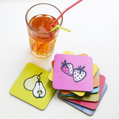 Set of 8 Fruit Coasters