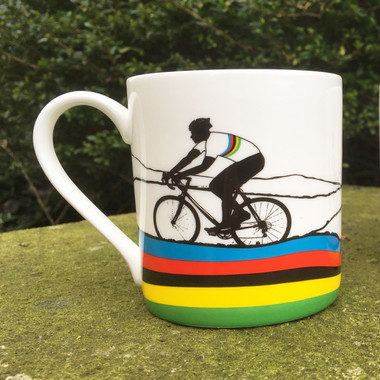 Rainbow Jersey Cycling Mug