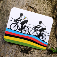 Rainbow Jersey Cycling Coaster