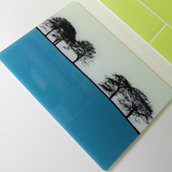 Turquoise Glass Worktop Saver - Second