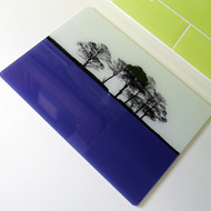 Blue Glass Worktop Saver - Second