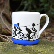 White Jersey Cycling Mug