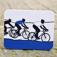 White Jersey Cycling Coaster