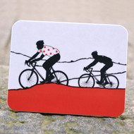 Red Polka Dot Jersey Cycling Coaster