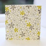 Flower Birthday Card - Letterpress