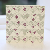 Hearts Greeting Card - Letterpress