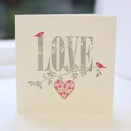 Love Greeting Card - Letterpress